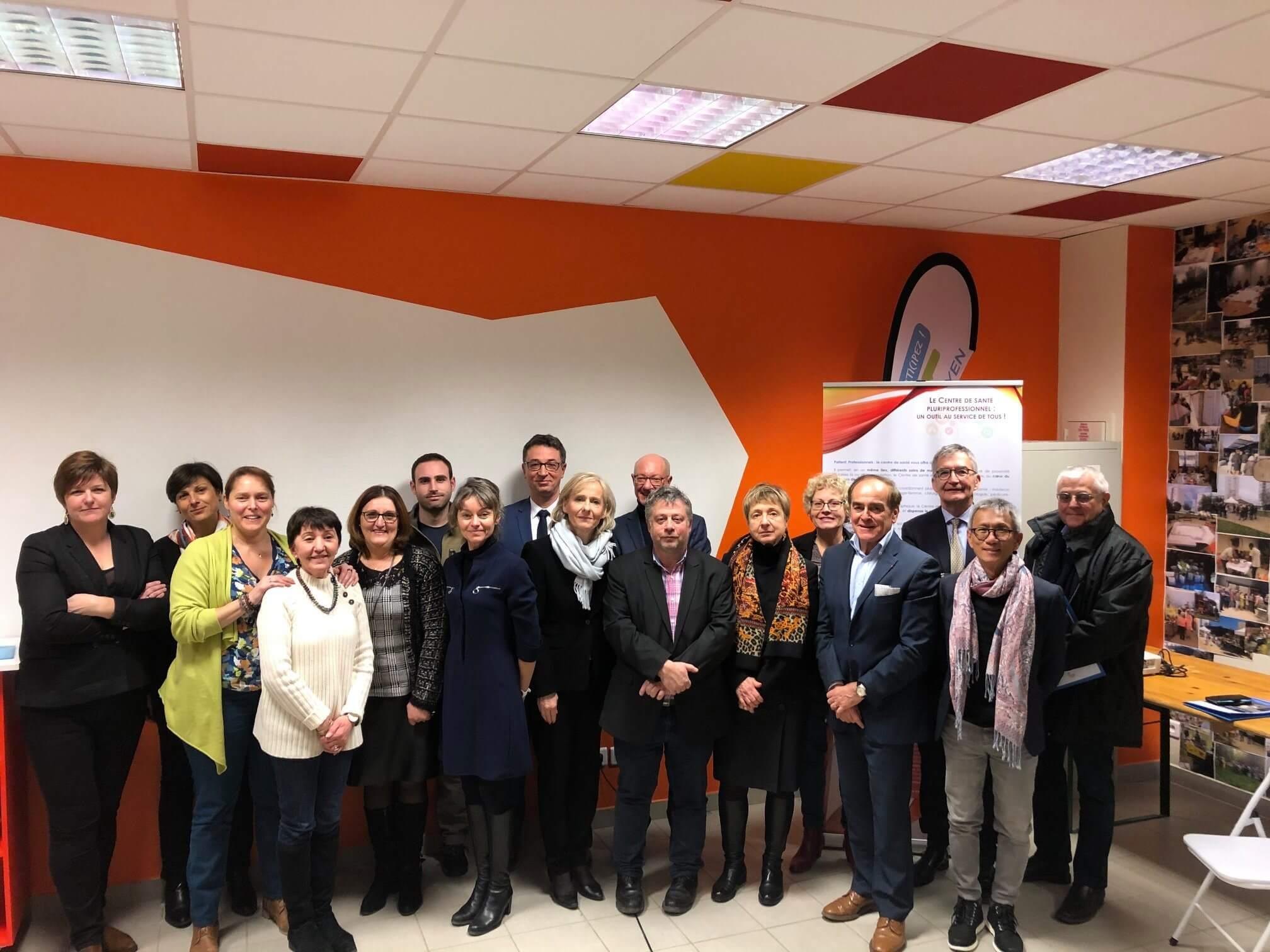 Visite de l'ARS Grand Est au centre de santé du Hamois Simone Veil