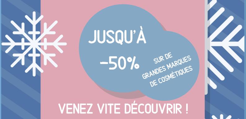 SOLDES : -50% SUR DE GRANDES MARQUES DE COSMÉTIQUES