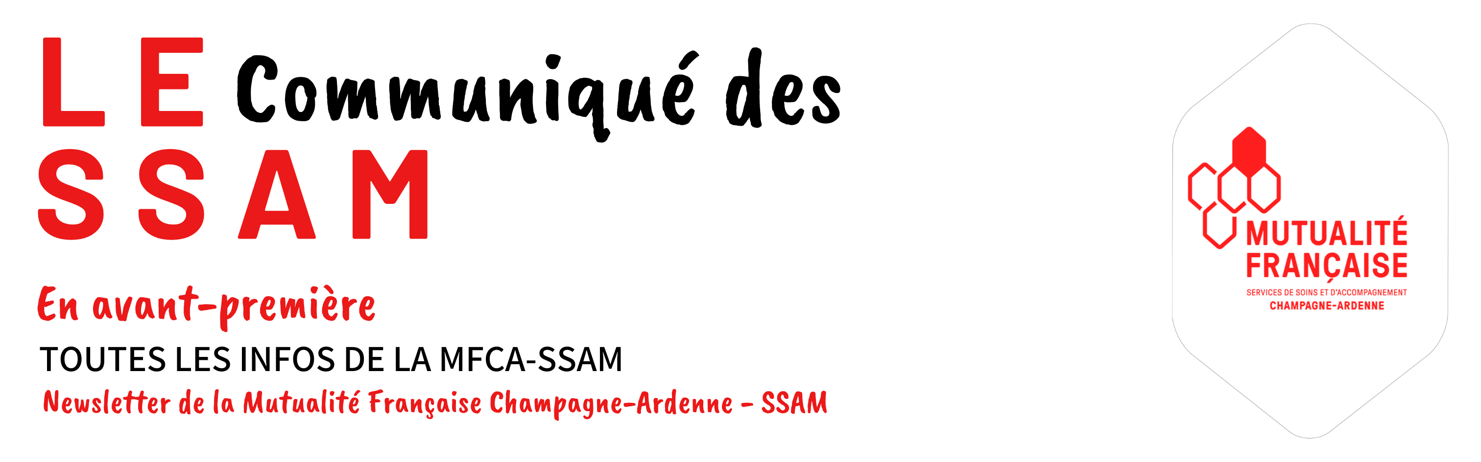 S'INSCRIRE À NOTRE NEWSLETTER – LE COMMUNIQUÉ DES SSAM