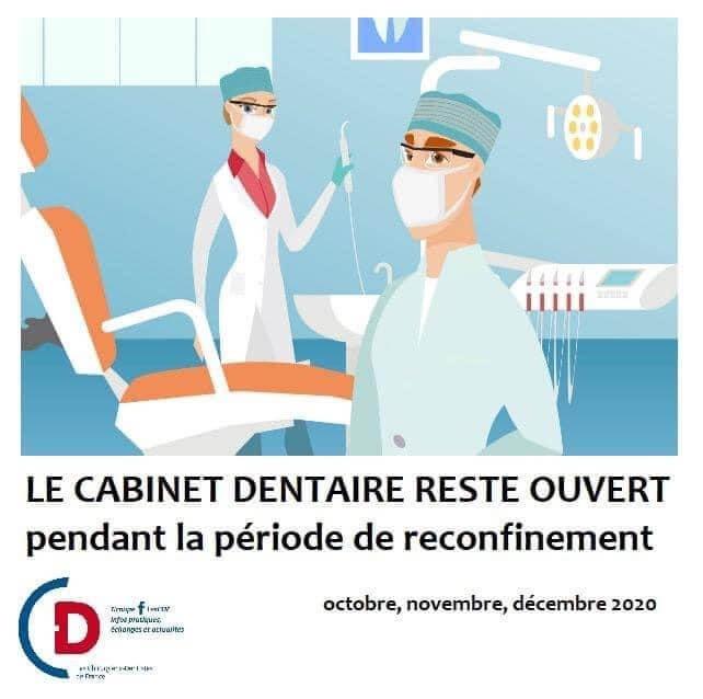 Les Centres de santé médicaux et dentaires restent ouverts pendant la période de reconfinement