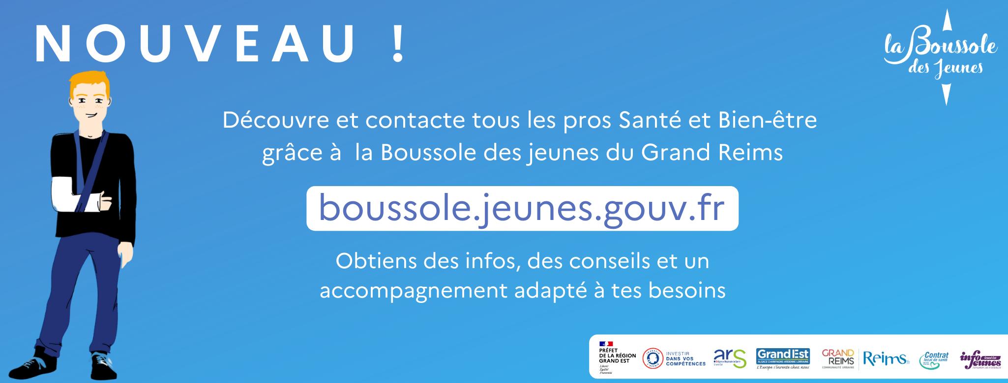 La Mutualité Française Champagne-Ardenne SSAM est partenaire de la Boussole des jeunes !